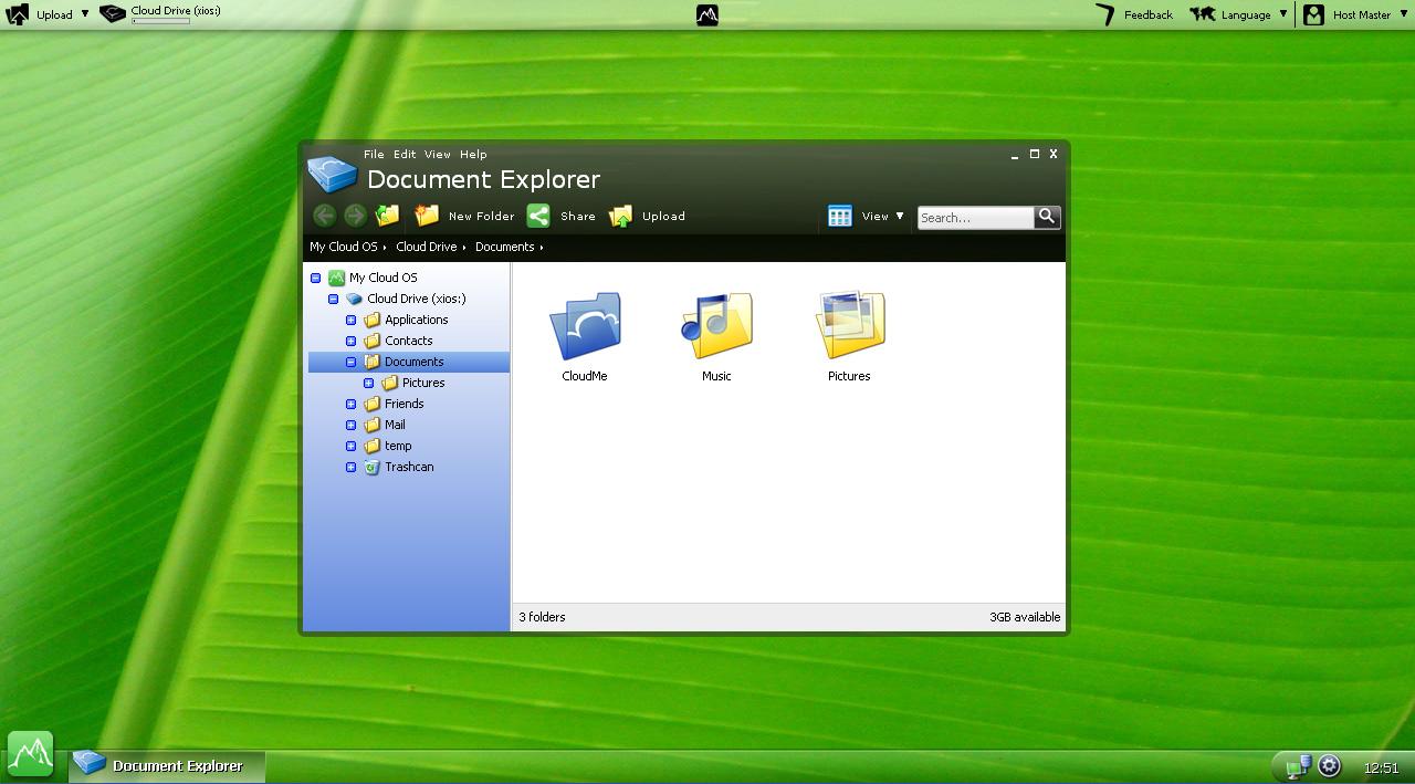 CloudTop - Cloud Web Desktop Screenshot