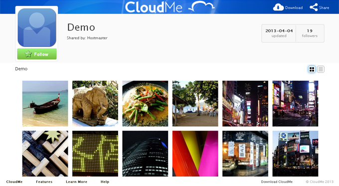 CloudMe Example WebShare